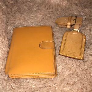 Furla light cognac brown leather wallet